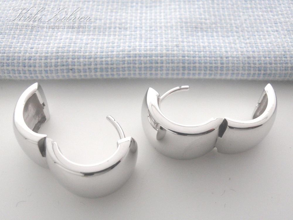 Creolen oorbellen zilver