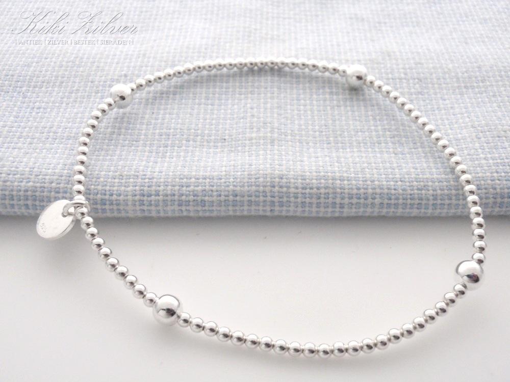 nieuwkomers populair kopen usa goedkope verkoop Zilveren Armband Bolletjes