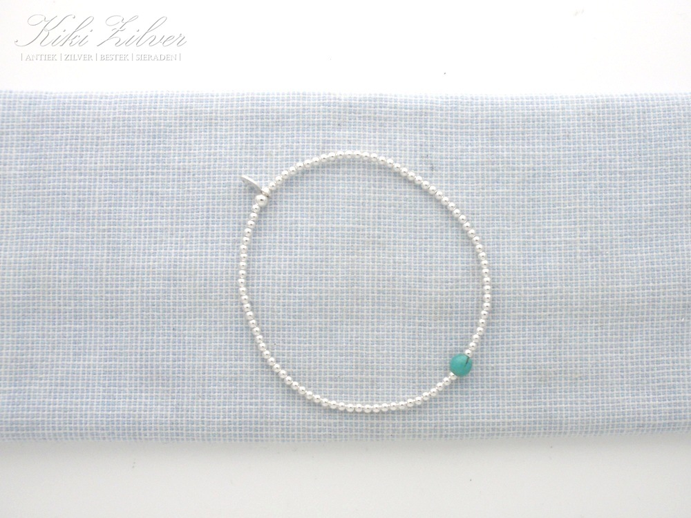 zilver turquoise armband