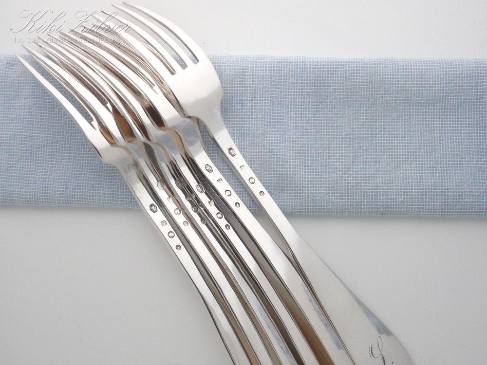 antieke zilveren vork