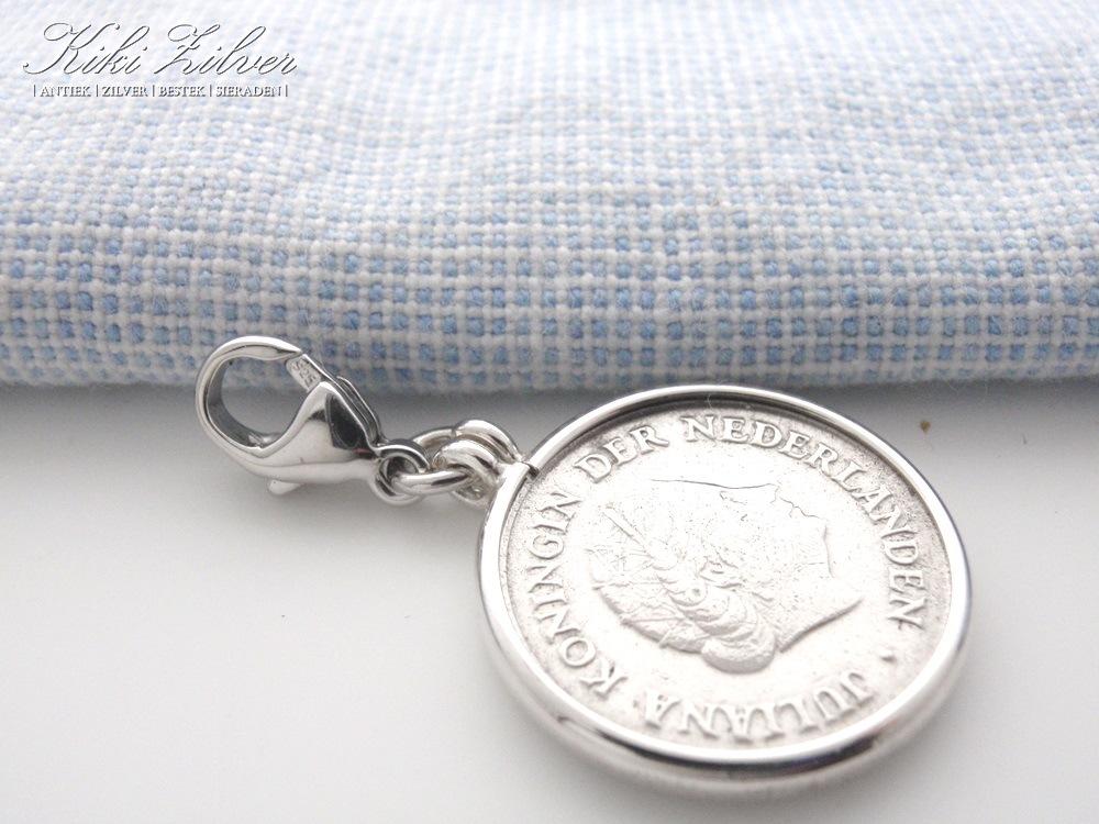 zilveren munt hanger