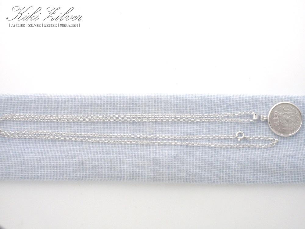 Zilveren jasseron collier met gulden uit geboortejaar for Gulden interieur b v