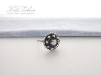 Zilveren Ring Zeeuwse Knop 17 mm.