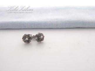 Zilveren Oorknopjes Zeeuwse Knop 7,5 mm. kiki zilver antiek sieraden
