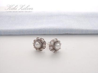 Oorknoppen Zilver Zeeuwse Knop 13,5 mm.