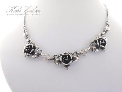 zilveren collier roosje TEKA kiki zilver sieraden