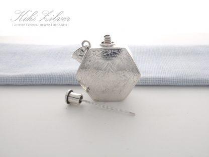 zilveren parfumflesje kiki zilver antiek sieraden